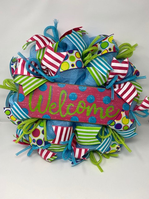 PARTY TIME WELCOME WREATH by Hang It Up Door Decor