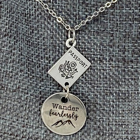 WANDER FEARLESS NECKLACE by Corso Custom Jewelry