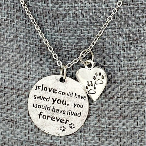 IF LOVE COULD HAVE SAVED YOU NECKLACE by Corso Custom Jewelry
