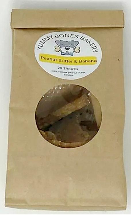 PEANUT BUTTER & BANANA DOG TREATS by Yummy Bones Bakery