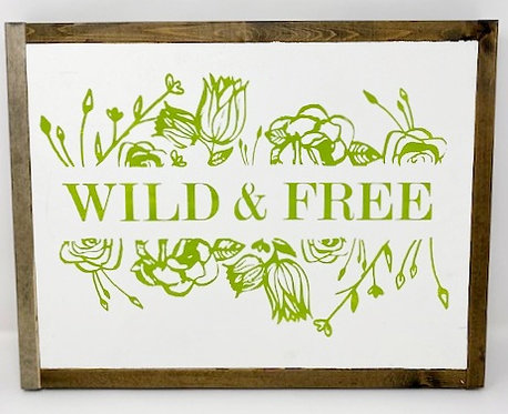WILD & FREE SIGN by Dusty Road Designs