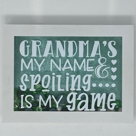 GMA NAME, SPOILING GAME SHADOWBOX 5X7