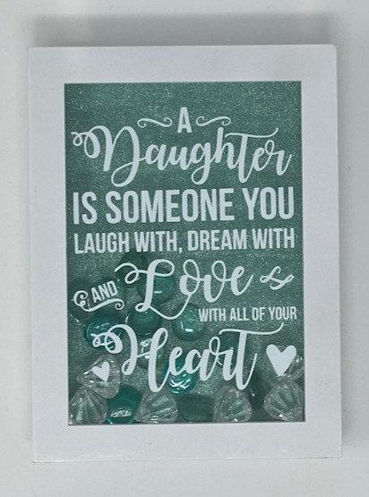DAUGHTER LAUGH, DREAM SHADOWBOX 5X7