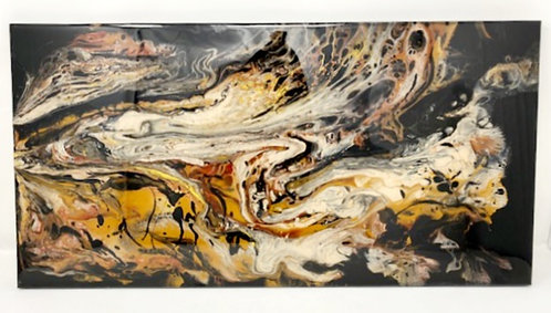 BLACK MAGIC ACRYLIC POUR PAINTING by Louise Fedirko