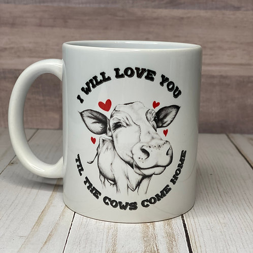 COWS COME HOME MUG by Belle Designs