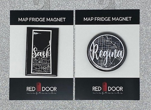MAP FRIDGE MAGNETS by Red Door Craftworks