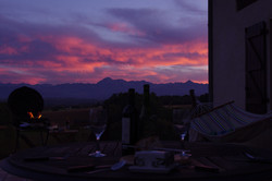 Terrace Barbecue Sunset