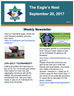 Weekly Newsletter 09/20/17