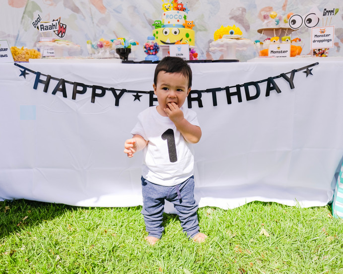 ROCO TURNED ONE: Monster Birthday Party