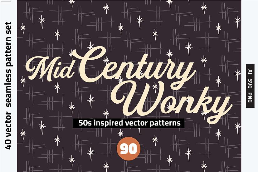 Mid Century Wonky Patterns
