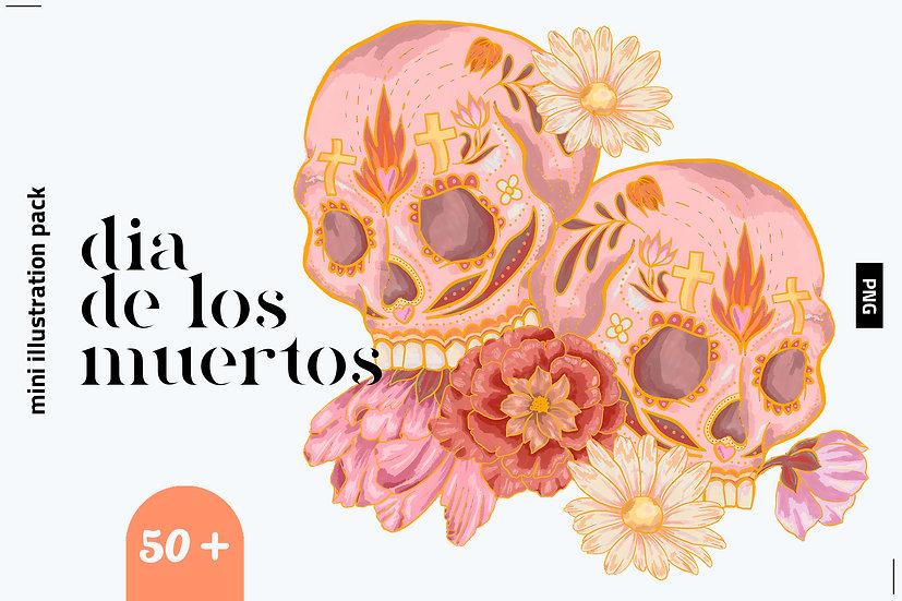 Dia De Los Muertos Illustration Set