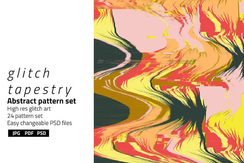 Glitch Tapestry Background Set