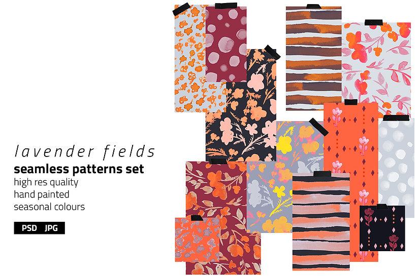 Lavender Fields Pattern Set