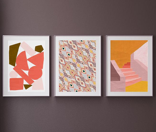 Summer Modern Printable Gallery Set | Multiformat Downloadable DIY print