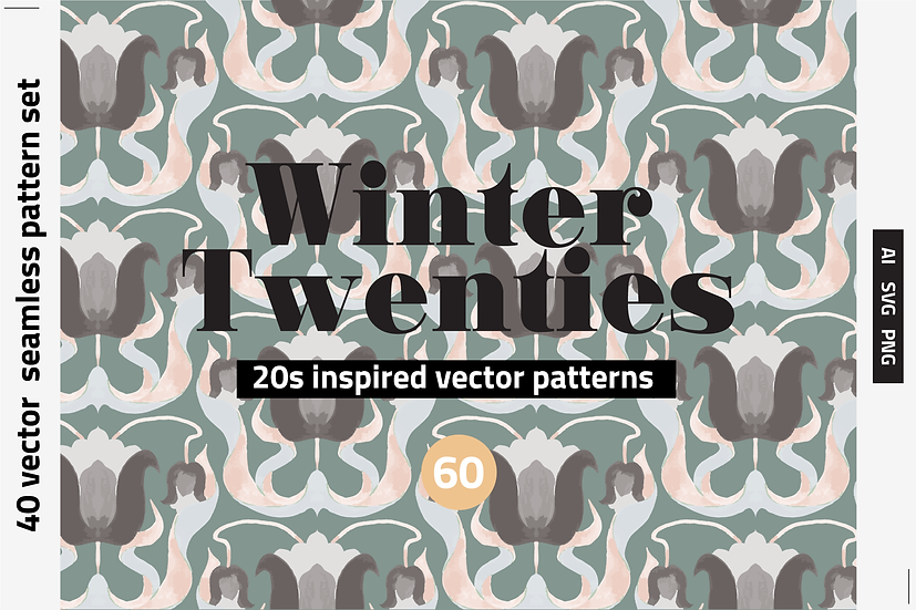 1920 Tiles Vector Pattern Set