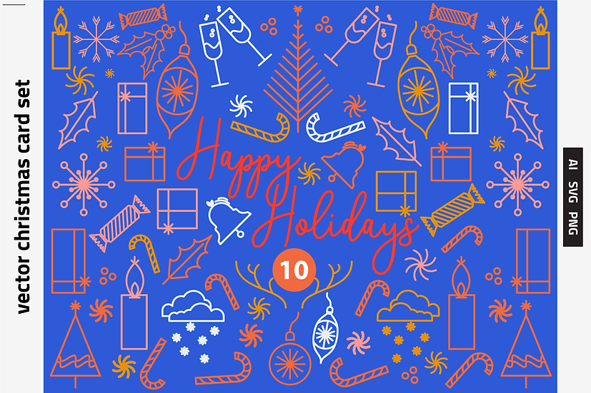10 Vector Holiday Cards