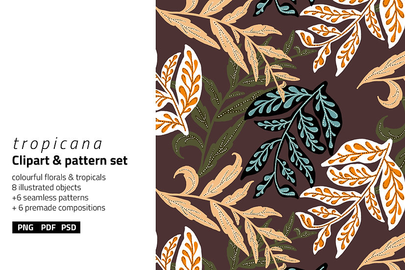Tropicana Illustration & Patterns