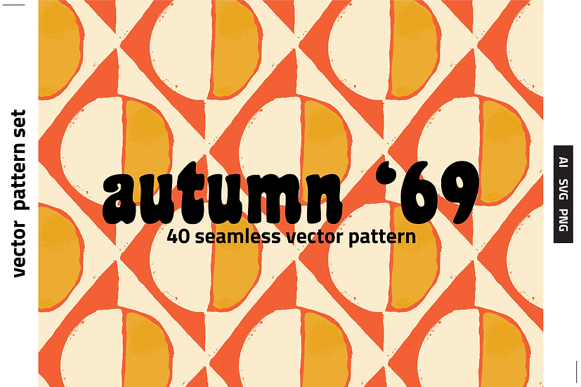 Autumn '69 Retro Vector Pattern Set