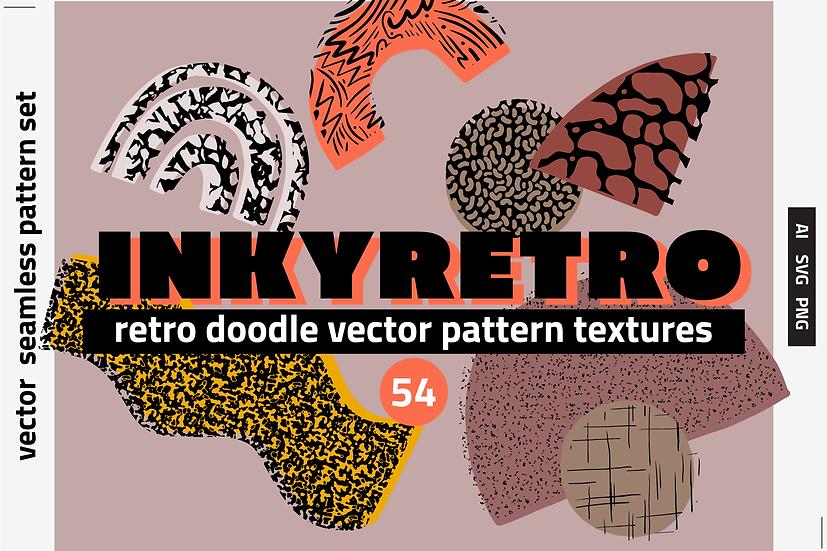 80s Doodles Vector Texture &Patterns