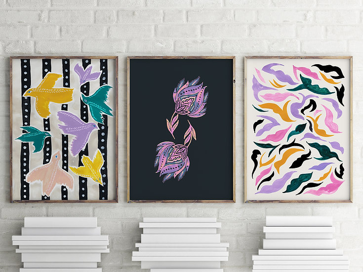 Matisse Inspired Printable Gallery Wall Set | Set of 3