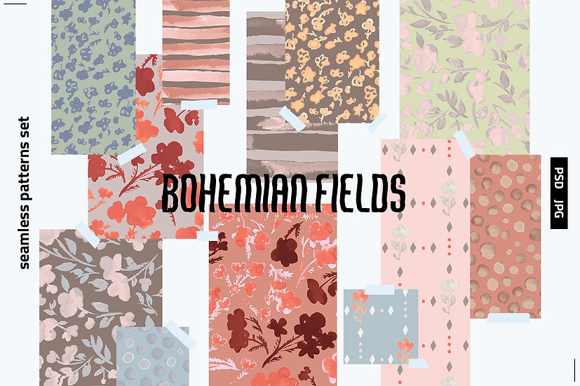 Bohemian Fields Pattern Set