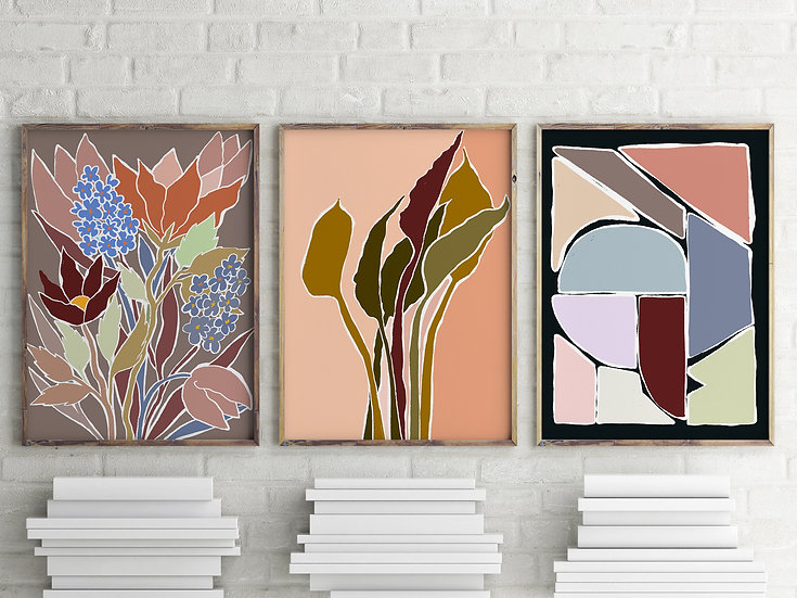 Spring Earthy Printable Gallery Wall Set | Multiple Format DIY print
