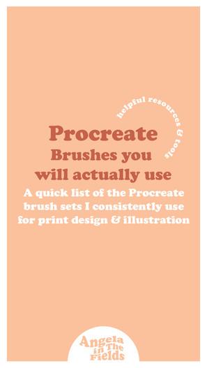 Procreate Brushes I Actually Use