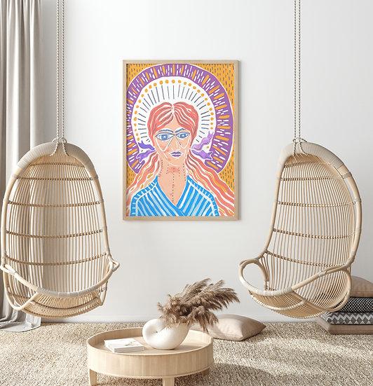 Priestess Printable Fine Art | Multiformat Downloadable DIY print