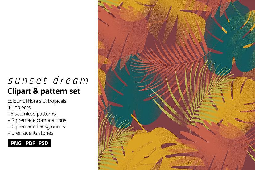 Sunset Dream Illustration & Patterns