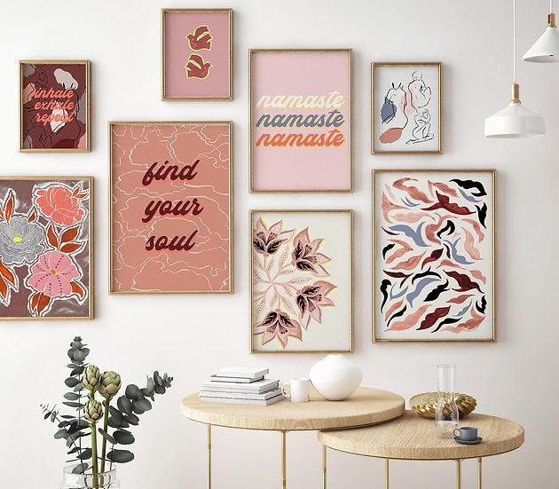 Peaceful Home Printable Bundle | Set of 8 | DIY Downloadable Print