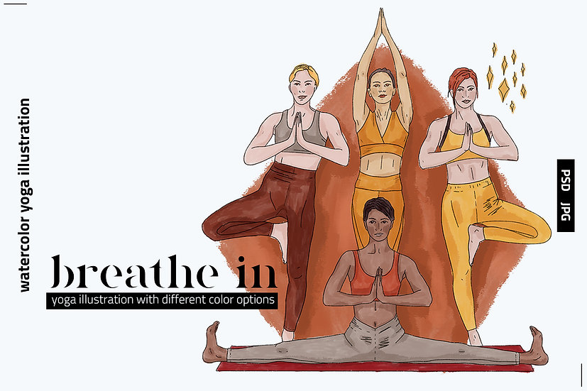 Breathe In Watercolor Illustration