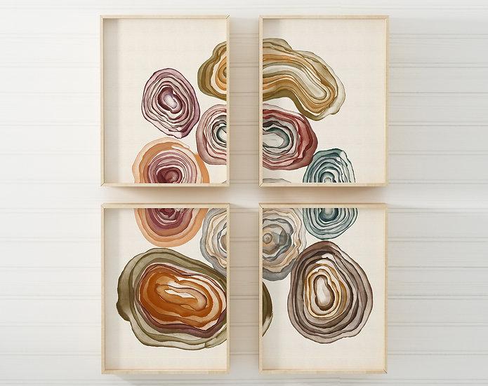 Geods Printable Gallery Wall | Set of 4 | DIY Downloadable Print