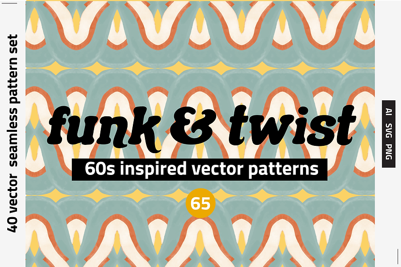 Watercolor Vector Patterns 60s Inspo