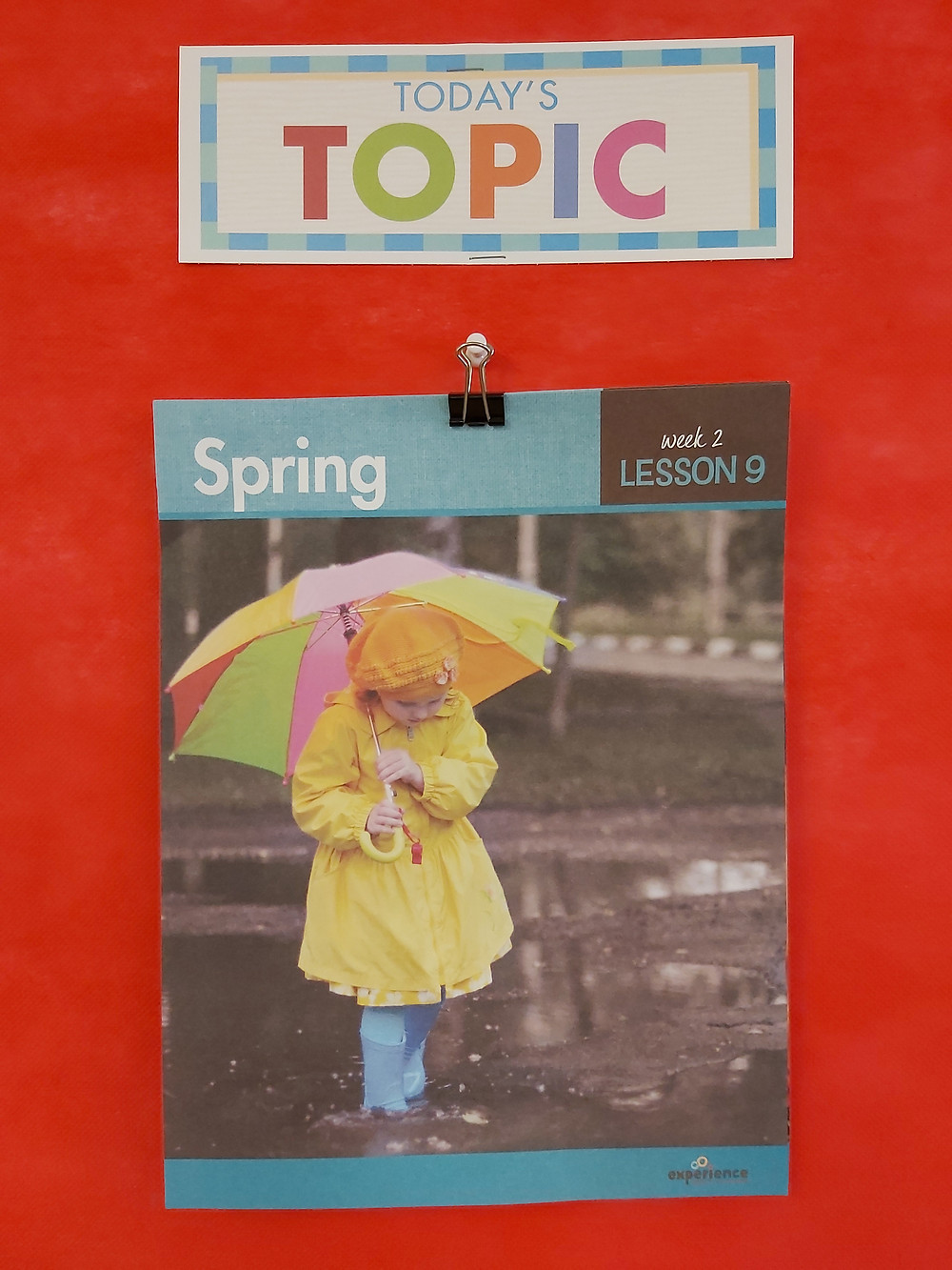 spring topic poster