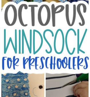 Octopus Windsock for Preschoolers