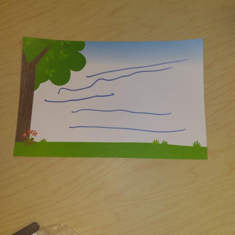 preschooler's nature postcard