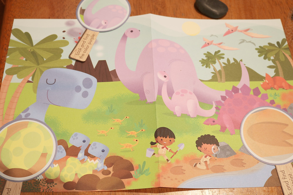 large theme poster with pretend magnifying glasses