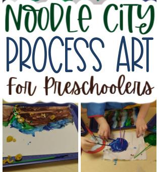 Noodle City Process Art for Preschoolers