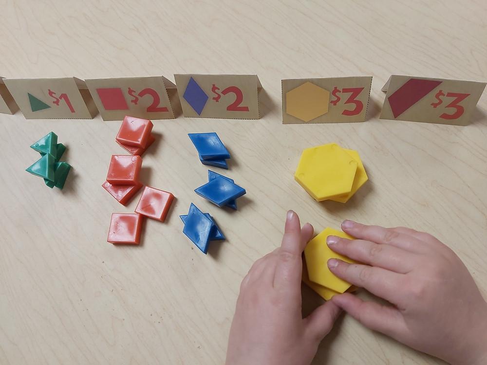 mango market math game using manipulatives