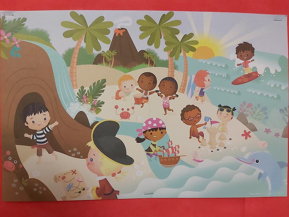 theme poster for Island Treasure theme