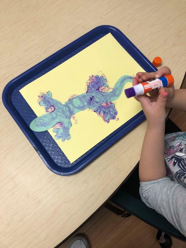 preschooler's gecko art