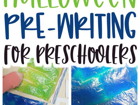 Halloween Pre-Writing for Preschoolers