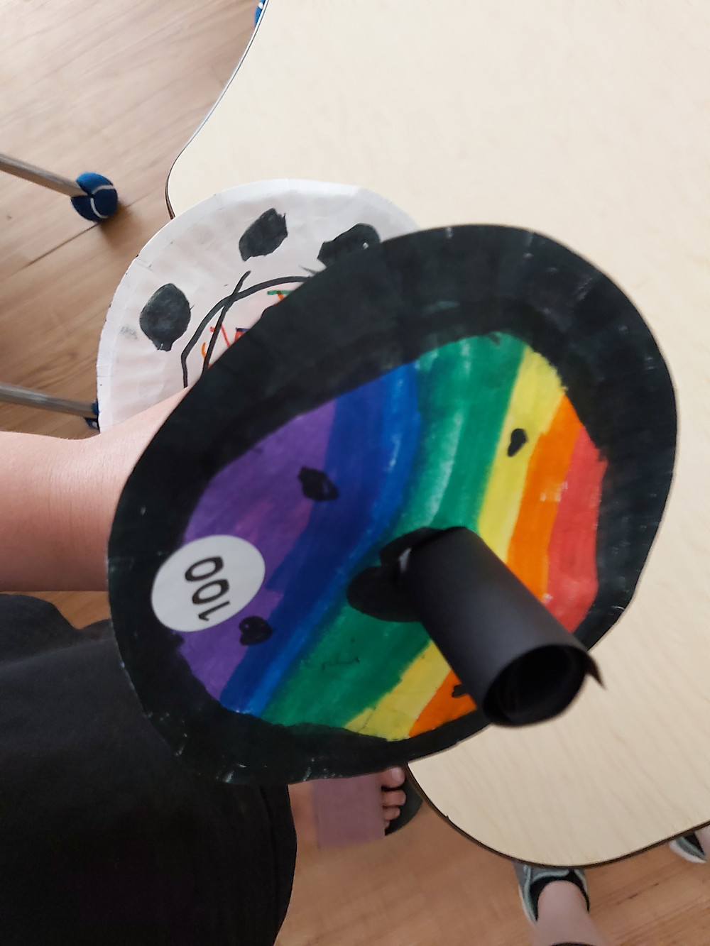 preschooler's barbell craft