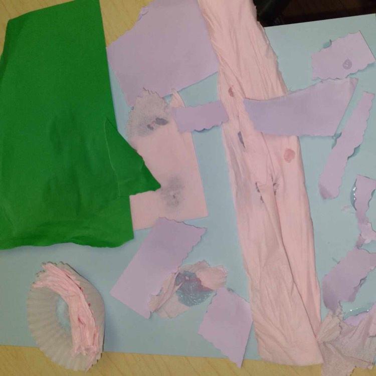preschooler's pond collage