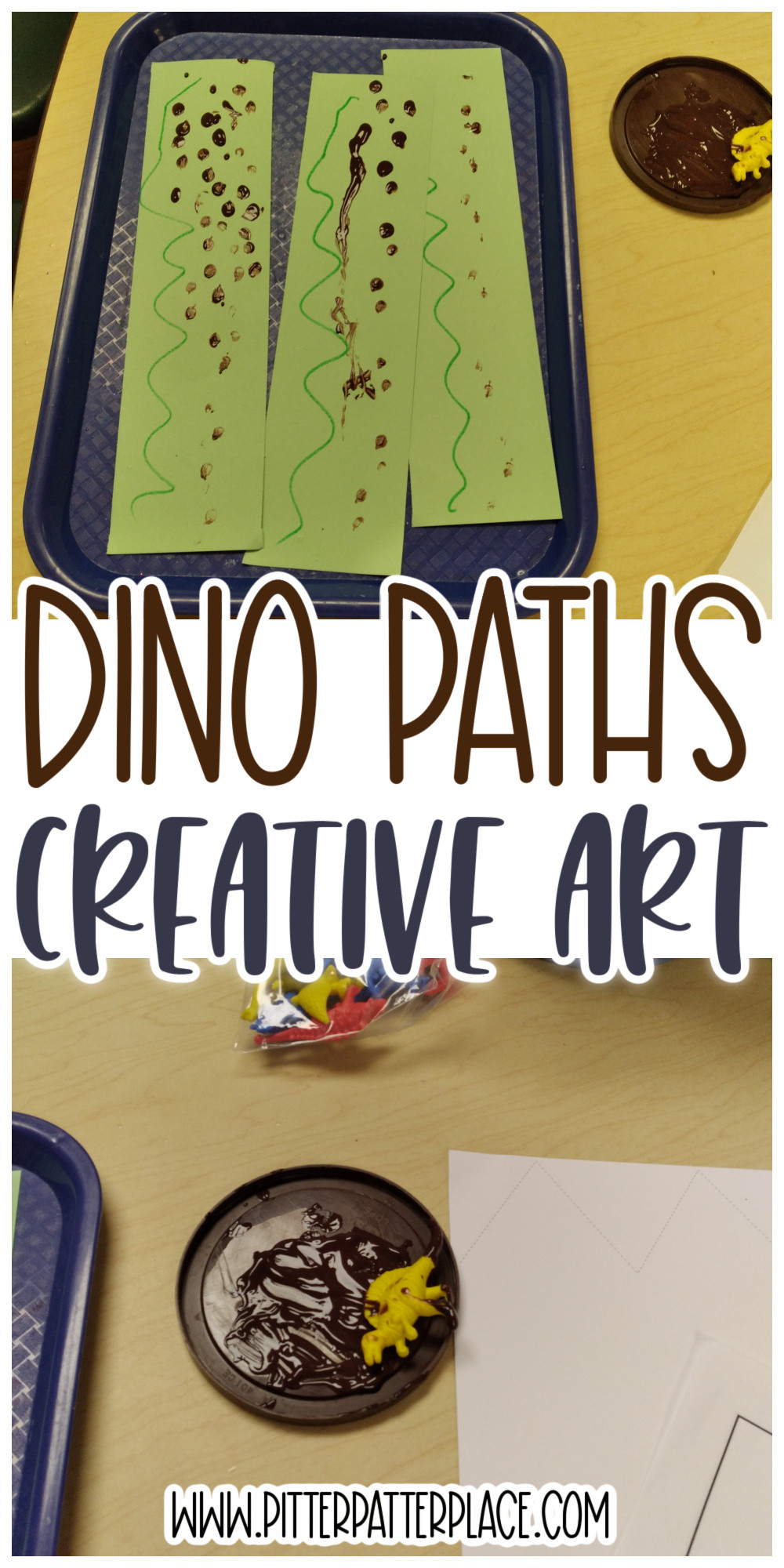 collage of dino paths images with text: Dino Paths Creative Art