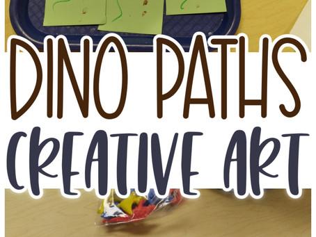 Dino Paths Make & Play Creative Art Activity for Preschoolers