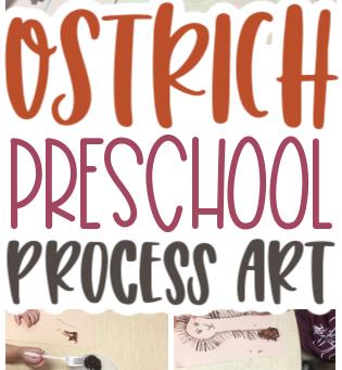 Ostrich Art for Preschoolers