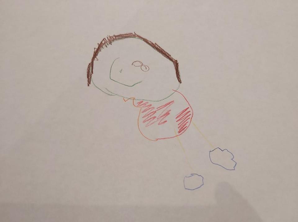 preschooler's self portrait art