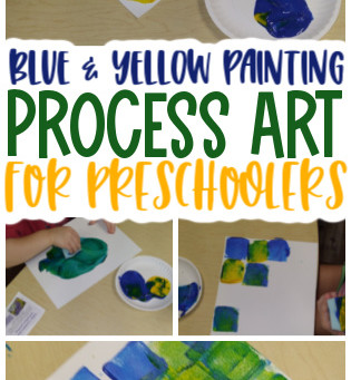 Blue and Yellow Painting Activity for Preschoolers