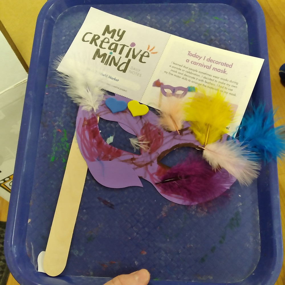 child's carnival mask project